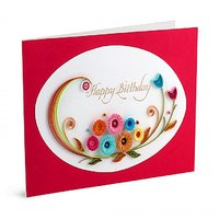 Handmade Quilled Birthday Greeting Card by Handcrafted Emotions (HE010)