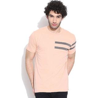 Cult Fiction Orange Solid Round Neck MenS T-Shirt