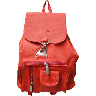 Red Polyester Casual Backpacks