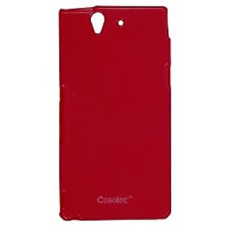 Casotec Soft TPU Back Case Cover for Sony Xperia Z - Red