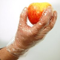200 Pcs Disposable Transparent Clear Plastic Gloves (only gloves)