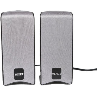 Texet USBPK-1 USB Multimedia Speaker System in Grey for LaptopPC