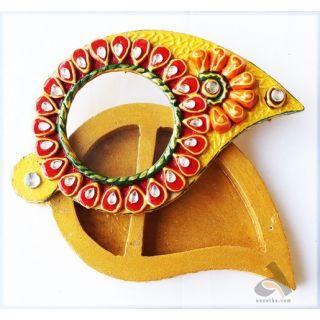 Anootha Handmade Paper Mache Chopra / Roli Chaval dibbi / Haldi Kumkum dani