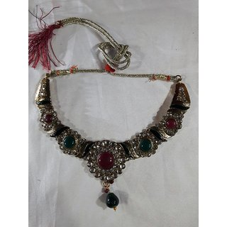 Sumans Kundan Alloy Necklace set.