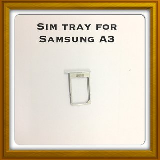 New Sim Card Slot Tray Holder - Replacement Part For Samsung A3 - Silver