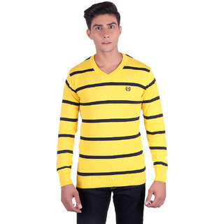 Ogarti 2006 Striped Yellow Mens Sweater