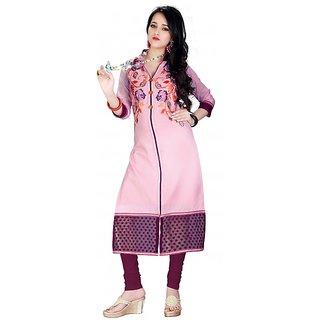 new desinger fency pink kurti