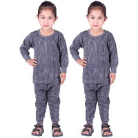 Kids Body Warmer Thermals Winter Wear Assorted (Grey, Brown, Blue) Pack of 2