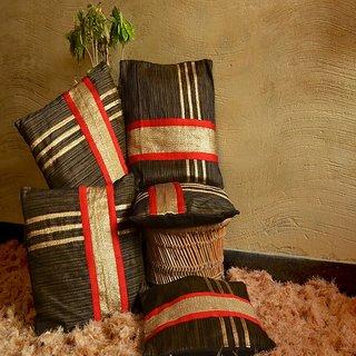 Designer Brocade Cushion Cover