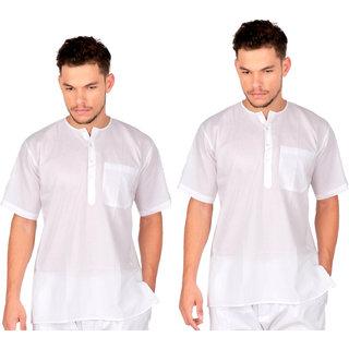 Jay Enterprise -Sadra (Pehran)-White Cotton Cambric - Pack Of 2 Pcs