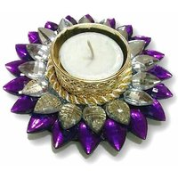 Diya - Unique Arts Beautiful Purple Floating Diya T-light Candle