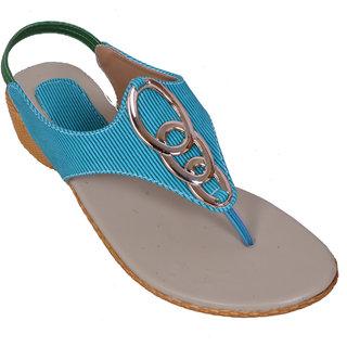 Royal Footwears Women Aqua Sandals