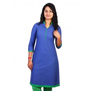 Plain Chinese Collar Kurti