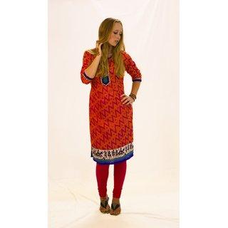 Printed kurti in jaquard fabric