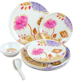 Attractive Melamine Dinner Set (Set Of 12 Pcs)
