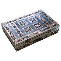 Silver Minakari Handicraft Pooja Box / Diwali Thali