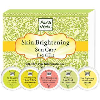 Skin Brightening Sun Care Facial Kit