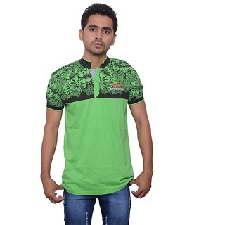 PACKARD COTTON GREEN COLOR T-SHIRT(size-L)