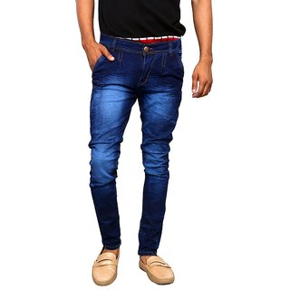 PACKARD COTTON NAVY BLUE  JEANS(size-28)