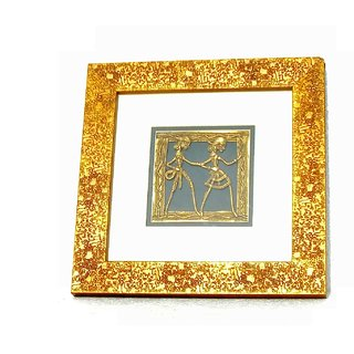 Dokra Art Decorative Brass Metal Designer Wall Hanging (22.5 cm x 22.5 cm)