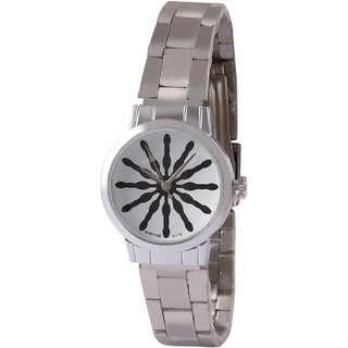 Jyoti Kalakriti Scenic Silver Color Analog Watch