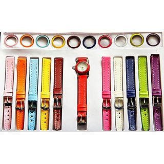11 In 1 Multi-dial Strap Changeable Watch Set INTER Changeable Ladies Watch Set