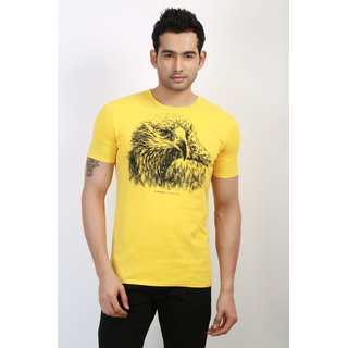 Unique Design Classics Mens Round Neck Eagle-Yellow