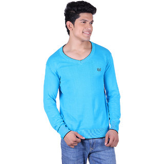Ogarti 2001 plain Turquise Mens Sweater