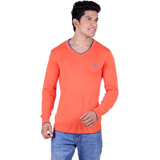 Ogarti 2001 Plain Orange Mens Sweater
