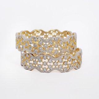 Sparkling American Diamond Bangle Pair