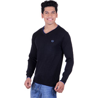 Ogarti 2001 Plain Black Mens Sweater