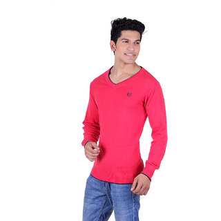 Ogarti 2001 Plain Red Mens Sweater