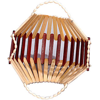 2 in 1 Folding Wooden Bamboo Basket
