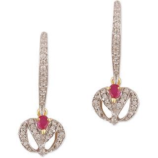 Sixmeter Jewels Golden Copper Dangle  Drop Earrings For Women (Az-Er-340)