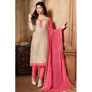 Sareemall Blue Cotton Lace Salwar Suit Dress Material