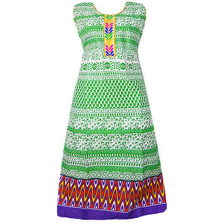 Srinika green casual printed kurti for women