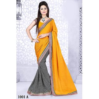 Sareemall Multi Chiffon+Satin Saree with Unstitched Blouse janvi1001A