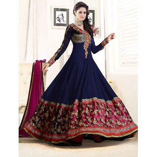 FAB AVSAR New Attractive Designer Navy Blue Anarkali Suit