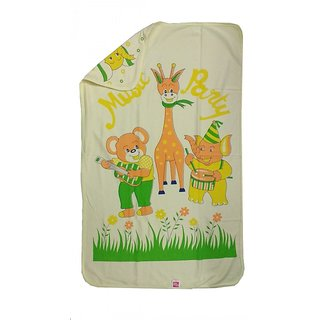 Love Baby Bath Towel 902 Egyption Cotton Regular Cartoon Print (Yellow)