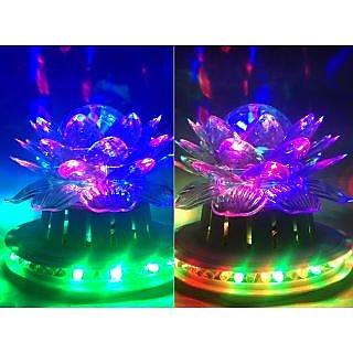 VRCT Rotatating  Colorfull Lotus Diwali Lights Set of Two