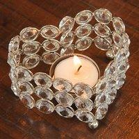 T-light - Unique Arts Beautiful Heart Shaped Crystal Tea Light