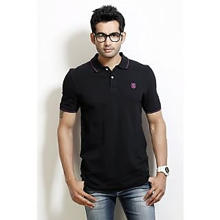 Unique Design Classics Mens Polo T-Shirt BRITTAN-Black