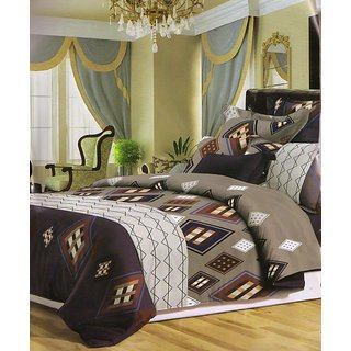 valtellina Geometrical Polyester Diwali Gift Box Bedsheet with 2 pillow(AC-008)