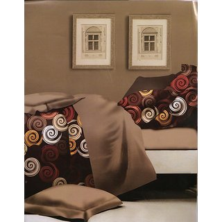 valtellina Superb Print Polyester Diwali Gift Box Bedsheet two pillow(AC-012)