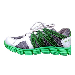 Mens Multicolor Lace-Up Running Shoes