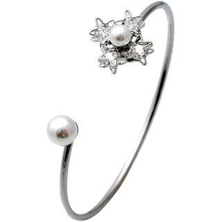 Lavishing Rhodium Austrian Diamond Bracelet  for Women JMP410