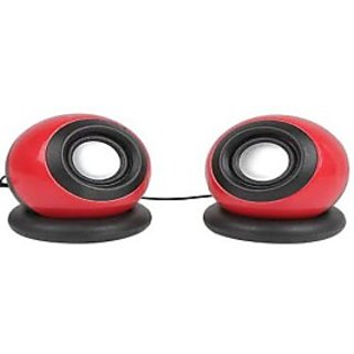 Soroo USB Speakers 2 Computer Speakers Red