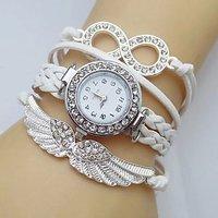 Addic Fashion AngelS Wings Lucky Charm Bracelet Watch For Women (Wristwatch)