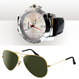 New Reebok Golden Aviator Sunglasses And Mtv Green Aviator Sunglasses.
