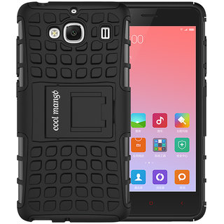 Redmi 2 Protective Case / Back Cover  Cool Mango Premium Dual Layer Armor Protection Case Cover with Kickstand for Redmi 2 / Redmi 2s - Black
